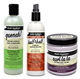 Aunt Jackies Curls & Coils Tri Bundle | Quench Moisture Intensive Leave In Conditioner 355 ml | Curl La La Defining Custard 426 g | Seal It Up Hydrating Sealing Butter 213g