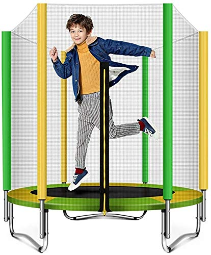 YAOJIA Indoor trampoline Trampoline For Kids With Safety Net   Foldable Bouncing Fitness Trampoline For Indoor Fitness Equipment