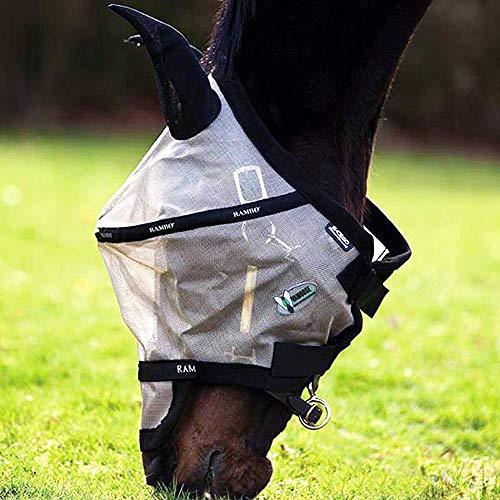 Horseware Rambo Fliegenmaske Plus, Größe:Full, Farbe:Oatmeal - Black