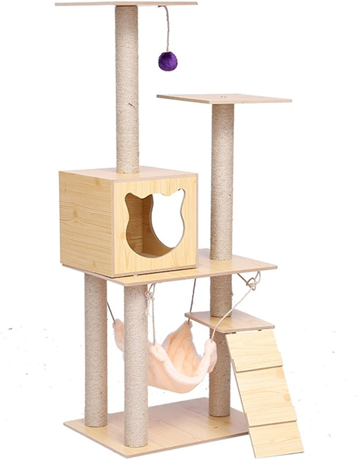L&XY Cat Tree Apartment Furniture Caterpillar Activity Tower MultiPlatform Catch Cat Post Tree Steady And Secure Environment Play Scratch Pet Toy 3853135Cm