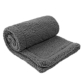 H.eternal(TM) Dog Basket Bed for Puppy,Pet Blanket Bed Mat Warm Sleeping Mattress Small Medium Dogs Cats Coral Fleece Pet Cushion Washable Removable Sleeping Kennel
