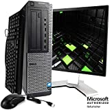 Dell Optiplex Desktop Computer Package - Intel Quad Core i5 3.1GHz, 8GB RAM, 500GB HDD, DVD, WiFi, 17 Inch LCD Keyboard, Mouse, Windows 10 Professional (Renewed)