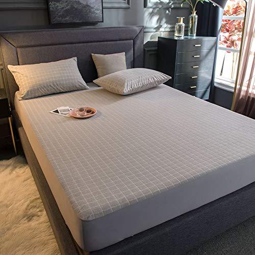 Stafeny Protector de colchón impermeable, hipoalergénico, impermeable, para líquidos, ácaros del polvo y alérgenos, funda de tela de rizo de algodón (2 piezas)