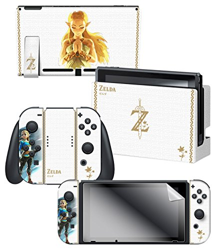 "Controller Gear Nintendo Switch Skin & Screen Protector Set Officially Licensed By Nintendo - The Legend of Zelda: Breath of the Wild: ""Princess Zelda"" - Nintendo Switch"