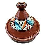 Ameublement Etnico Tajine 1801201000 Casserole Terre cuite Plat Marocain 35 cm