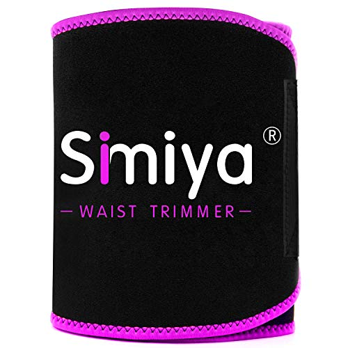 SIMIYA Waist Trimmer for Women and Men, Stomach Wraps for Weight Loss, Neoprene Waist Trainer Slimming Belt Sauna Suit Effect Black