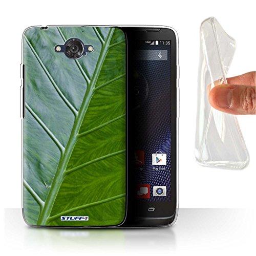 Stuff4 Gel TPU Hülle / Hülle für Motorola Moto Maxx / Vene Muster / Pflanzen/Blätter Kollektion