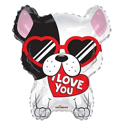 I Love You French Bulldog Frenchie 18'' Mylar Balloon I Love You Birthday Party Decorations Supplies