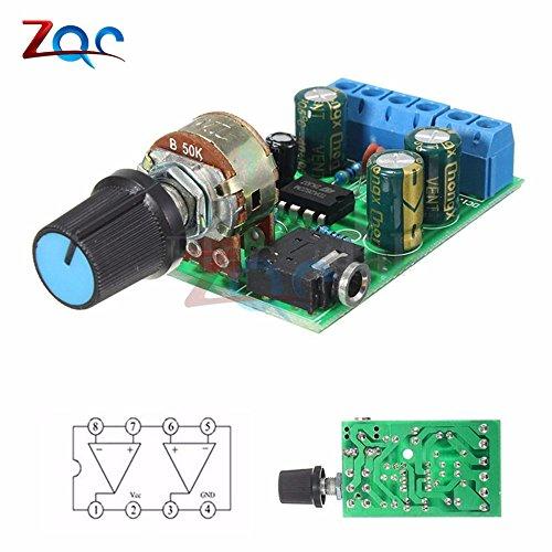 TDA2822M 2,0 Stereo Audio Verstärker Board Dual Channel AMP AUX Verstärker Board Modul für Arduino DC 1,8-12V
