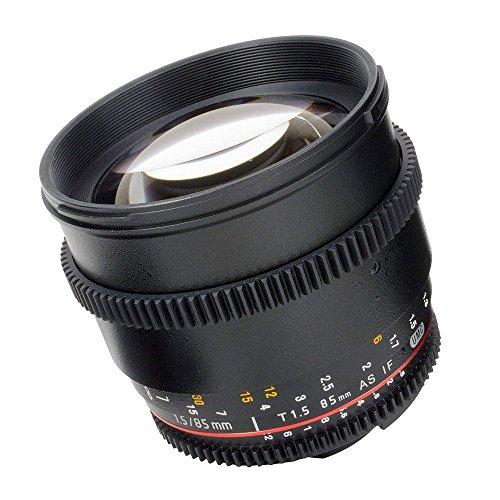 Samyang 85 mm Objective V-DSLR 1.5 T/UMC AS IF SLR Tele - Objetivo (SLR, 9/7, Teleobjetivo, 1,1 m, Micro Cuatro Tercios, 8,5 cm)