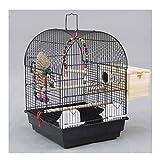 NYKK Tragbarer Vogelkäfig Tragbare Kleine große Vögel Reisen Cage Fun Metall-Vogelkäfig Große...
