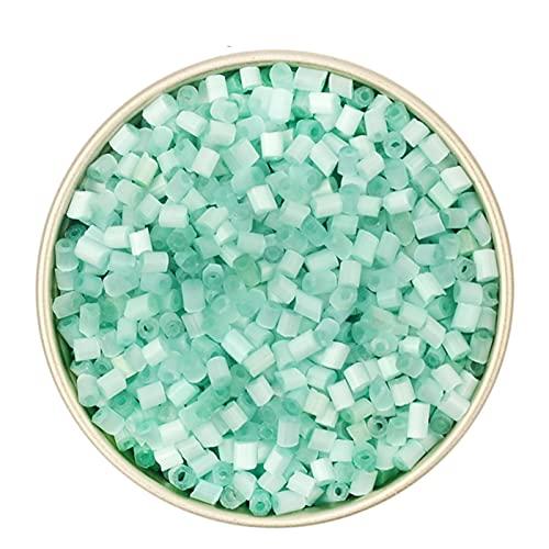 DYKJK Fabricación de joyas 3000pcs 2mm Opal Ojo de Gato Perlas de Cristal Checa para la Fabricación de Joyería DIY Pulsera Collar Bolsa de Ropa Coser para DIY Pulseras Joyería (Color: A)