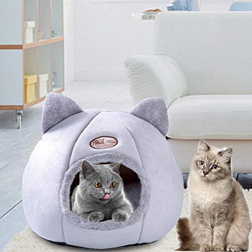 Katzenhaus, Katzen- und Hundehütte Mit 360-Grad-Abdeckung für Komfort und Privatsphäre - Herausnehmbares, waschmaschinenfestes Kissen Haustier Tipi Hund Katzenbett - Tragbare Haustierzelte und -häuser