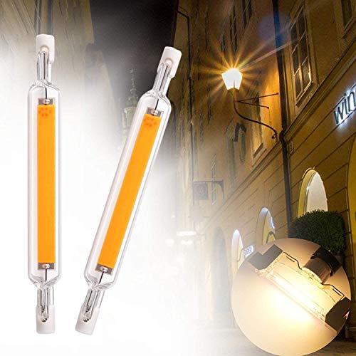 2X Dimmable R7s J118 20w Led Bombilla Base De Doble Extremo J-Type Frío Blanco 6000k COB Bombilla De Luz 118 Mm para El Reemplazo De Iluminación De Iluminación De Hogares