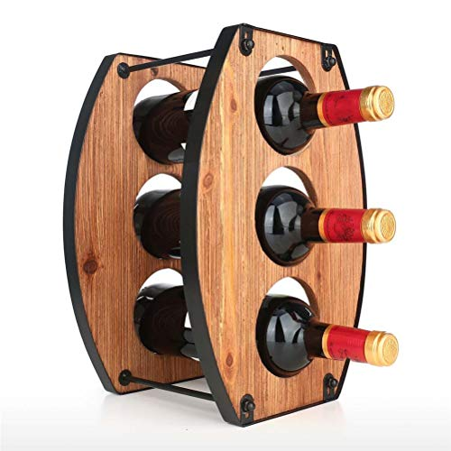 WUHUAROU Estante de Vino de 3 Botellas, Soporte de Mesa para Vino, Material de Hierro Resistente, Estante de Almacenamiento de Botellas de Vino Plegable, decoración del hogar, Creatividad