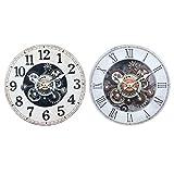 By SIGRIS Reloj Pared 34Cm Incluye 2 Unidades Adorno Pared Relojes Colección Industrial Signes Grimalt Decor And Go