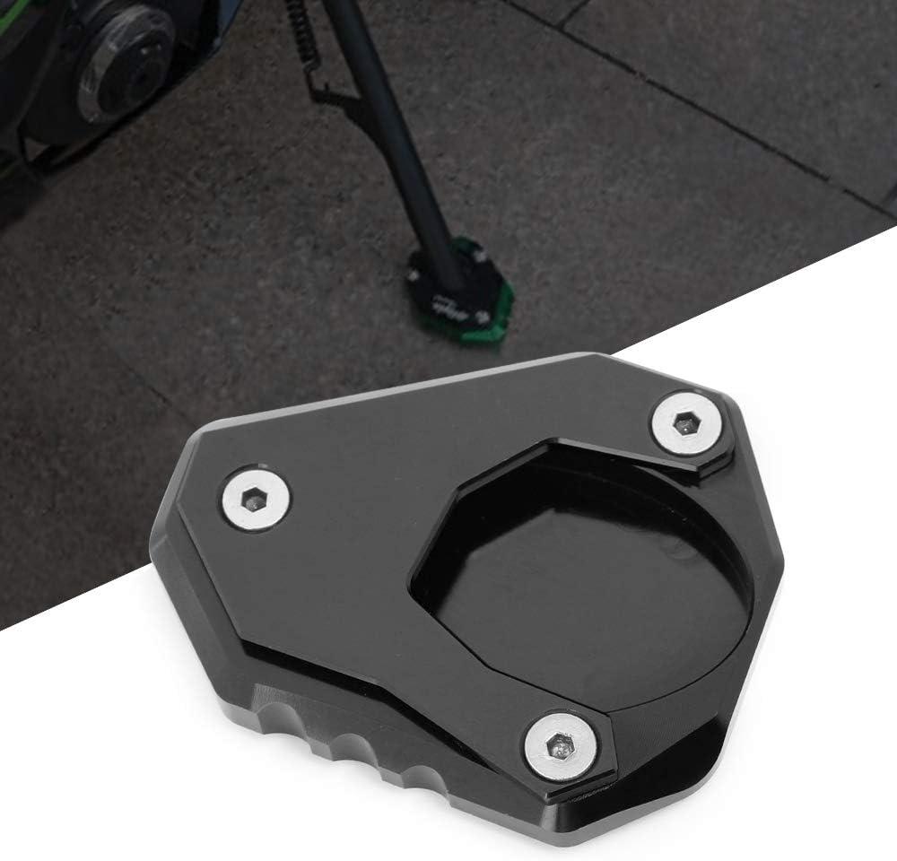 Motorrad Seitenständer Unterstützung Vergrößern Fuß Verbreiterung Ständer Platte Teller Pad Cnc Gefrästem Aluminium Für Kawasaki Versys 650 2015 2018 Ninja 400 2018 2019 Z400 2019 Auto