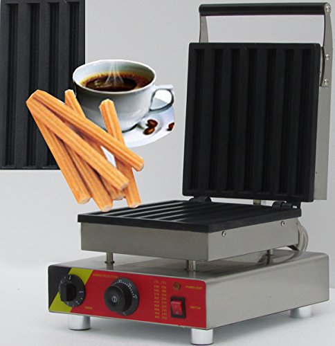 NP-21 Commerical Electric Churros Waffle Maker Machine Iron Baker Toaster (220V)