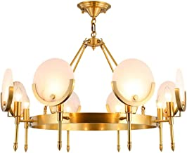Copper Chandelier Creative Bedroom Living Room Lamp Home Atmosphere Villa Hall Light Luxury Modern Adjustable Height Europ...