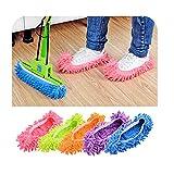 RAILONCH 5 pares de mopas para el polvo, limpiador de suelos, zapatos de casa, limpieza de zapatos, calcetines de microfibra, multifunción, (A)