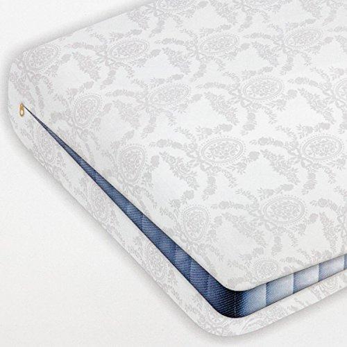 takestop® matras voor eenpersoonsbed, damast, damast, met ritssluiting, matras, 100 x 200 + 25 cm, 100% katoen