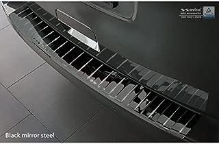 Autostyle 2/51014 - Protector de Parachoques Trasero de Acero Inoxidable con Espejo Negro, Color Plateado