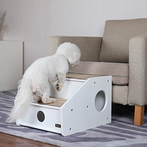 Petsfit Hundetreppe Katzentreppe Haustiertreppe für kleine Hunde Katzen, 2-stufig, 53cm × 43 cm × 35cm
