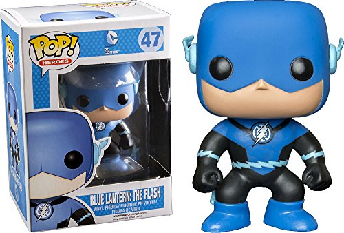 Funko - Figurine DC Comics - Blue Lantern Flash Exclu Pop 10cm - 0849803037468
