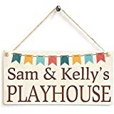 CHUNZO Sam & Kelly's Playhouse Holzwand Zeichen Holz Blume
