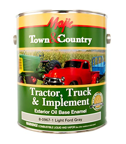 Majic Paints 8-0967-1 Town & Country Tractor, Truck & Implement Oil Base Enamel Paint, 1-Gallon, Light Ford Gray