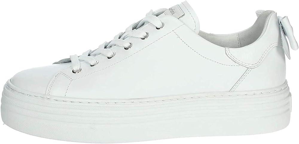 Nero giardini scarpe sneakers in pelle da donna E010700D Skipper Bianco