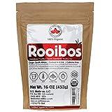 Rooibos Tea 1LB (16Oz) 100% CERTIFIED Organic (USDA seal) | Red Rooibos Loose Leaf Tea | South African Red Bush Herbal Tea| (200+ CUPS) | Non-GMO | Keto Friendly