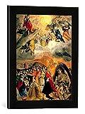 Gerahmtes Bild von EL Greco Traum Philipps II, Kunstdruck