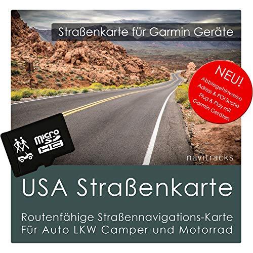 USA Garmin Karte 8 GB microSD. GPS Straßenkarte. Routenplanung für Navigationsgeräte