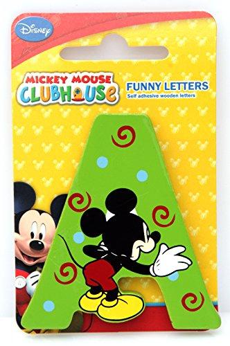 Selis Mickey Mouse - Letra Adhesiva de Madera - Hay 5 Colores Diferentes, se envían de Forma aleatoria.