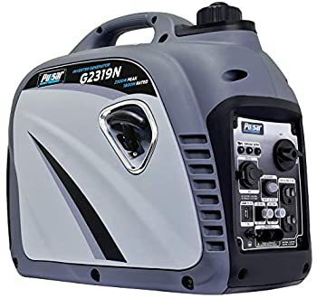 Pulsar G2319N 2,300W Portable Gas-Powered Inverter Generator with USB Outlet & Parallel Capability CARB Compliant Gray