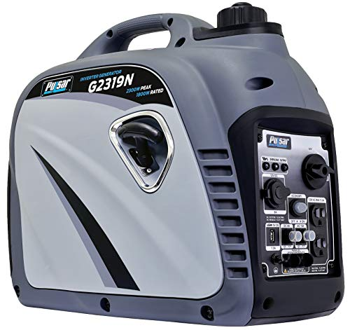 Pulsar G2319N 2,300W Portable Gas-Powered Inverter Generator with USB Outlet & Parallel Capability,...