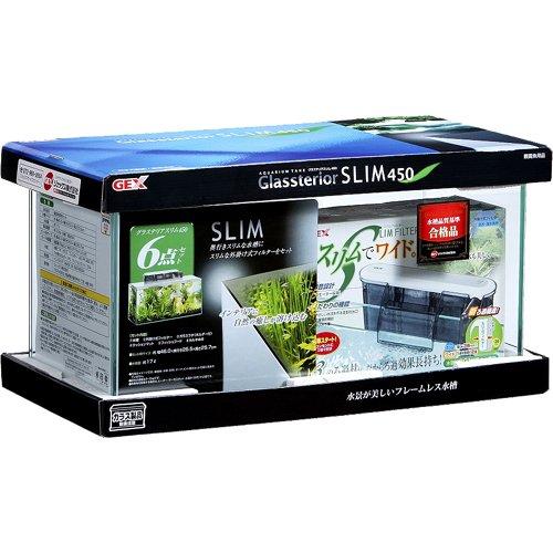 ジェックス グラステリアスリム450 6点セット水槽 奥行スリム