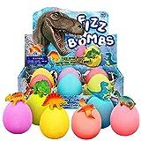 Badebomben Kinder 6 Dino Ei Badekugeln Geschenk Set Bath Bomb Surprise Toys Badezusatz Sprudel...