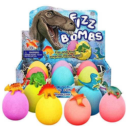 Badebomben Kinder 6 Dino Ei Badekugeln Geschenk Set Bath Bomb Surprise Toys Badezusatz Sprudel Schaumbäder Spielzeug Badekugel Geschenk ab 7 8 9 10 Jahre