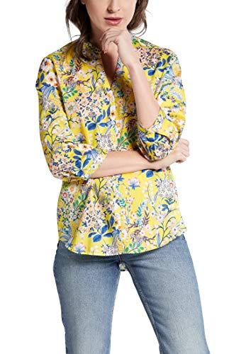 eterna Damen Bluse Flowerprint gelb, Größe:42, Farbe:72 gelb