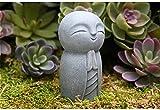 FAFAFA Estatua de JIZO con Sutil Acabado con Textura Antigua El pequeño Buda jizo para su hogar o jardín Decoración al Aire Libre Hecha de Piedra de fundición amigable
