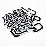 "Iron on Letters for Clothing,104 Pieces Iron on Patches for Clothing,4 Set Letter Patches for Clothing,1.6"" x 2"" (Black)"