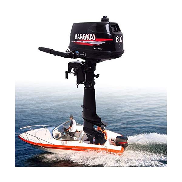 OUKANING 6PS Outboard Motor 2 Stroke Outboard Motor Car Motor Boat Engine