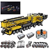 KOAEY Technic Gru V2.0 LTM1750-9.1, 7354 Pezzi 2.4GHz Telecomando Gru Fuoristrada Set da Costruzione di Veicoli con 12 Motori, Giallo, Compatibile con Lego