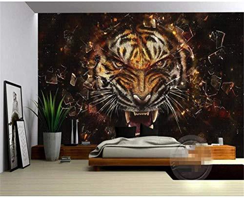 RTYUIHN Foto Wallpaper HD Super 3D Oil Painting Tiger Wallpaper 3D Living Room Wallpaper Modern Wall Art Decoration