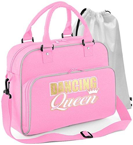 MusicaliTee Pole Fitness Dancing - Dancing Queen - Rosa PINK - Tanztasche & Schuh Tasche Dance Shoe Bags