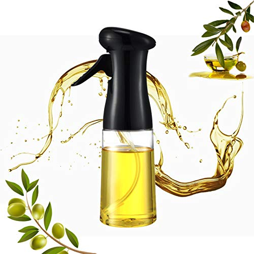 Olive Oil Sprayer, Oil Spray for Cooking, Oil Spray Bottle Kitchen Gadgets, Cooking Oil Sprayer BBQ Cooking Spray Bottle for Cooking, Baking, Roasting, Grilling, Frying (7.4 ounces)