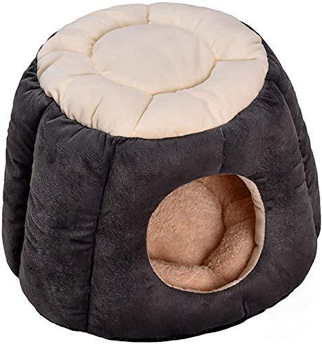 Perro cama Cama de la cueva del gato, cálido invierno gato suministros para mascotas Four Seasons gato saco de dormir Dormitorio profundo SPI-CAT TENT CAT CABLE, Mejorar el sueño, antideslizante, Lava