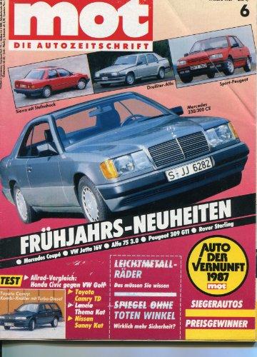 Bester der welt TÜV – Die Autozeitschrift Ausgabe 6/1986 Benchmark: Honda Civic Shuttle RT Allradantrieb und VW Vergleich…